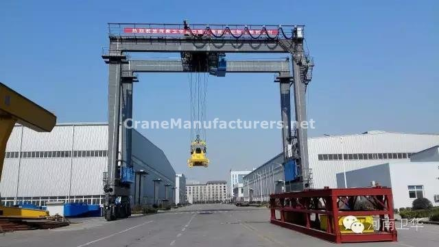 Rubber tyred container gantry crane for Kazakhstan in year 2015