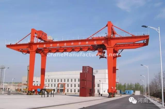 40 ton rail mounted container gantry crane for China Transportation in year 2010