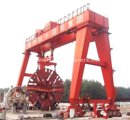 400 ton Shield gantry crane for Nanjing Yangtze river tunnel in year 2008