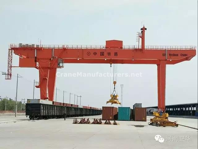 40 ton rail mounted container gantry crane for Xian railways bureau in year 2014