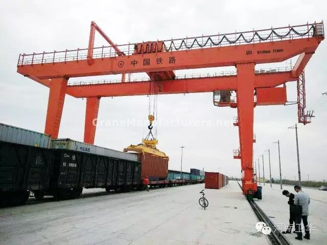 40 ton rail mounted container gantry crane for Lanzhou railways bureau in year 2015